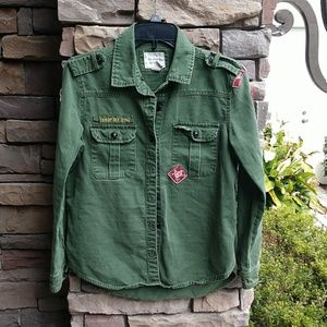 Forever 21 Troop Camp Shirt Size Small